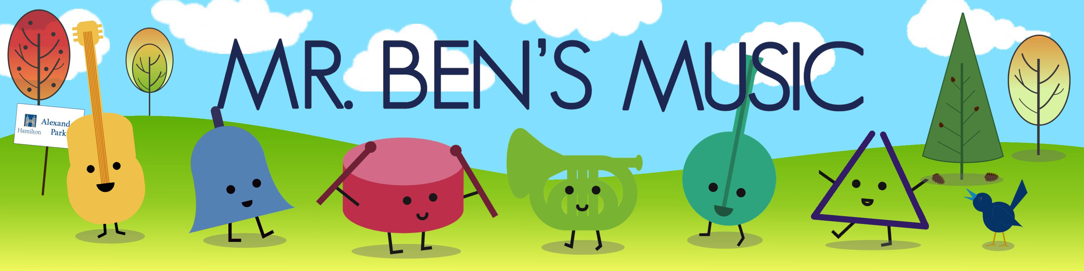 Mr. Ben's Music banner