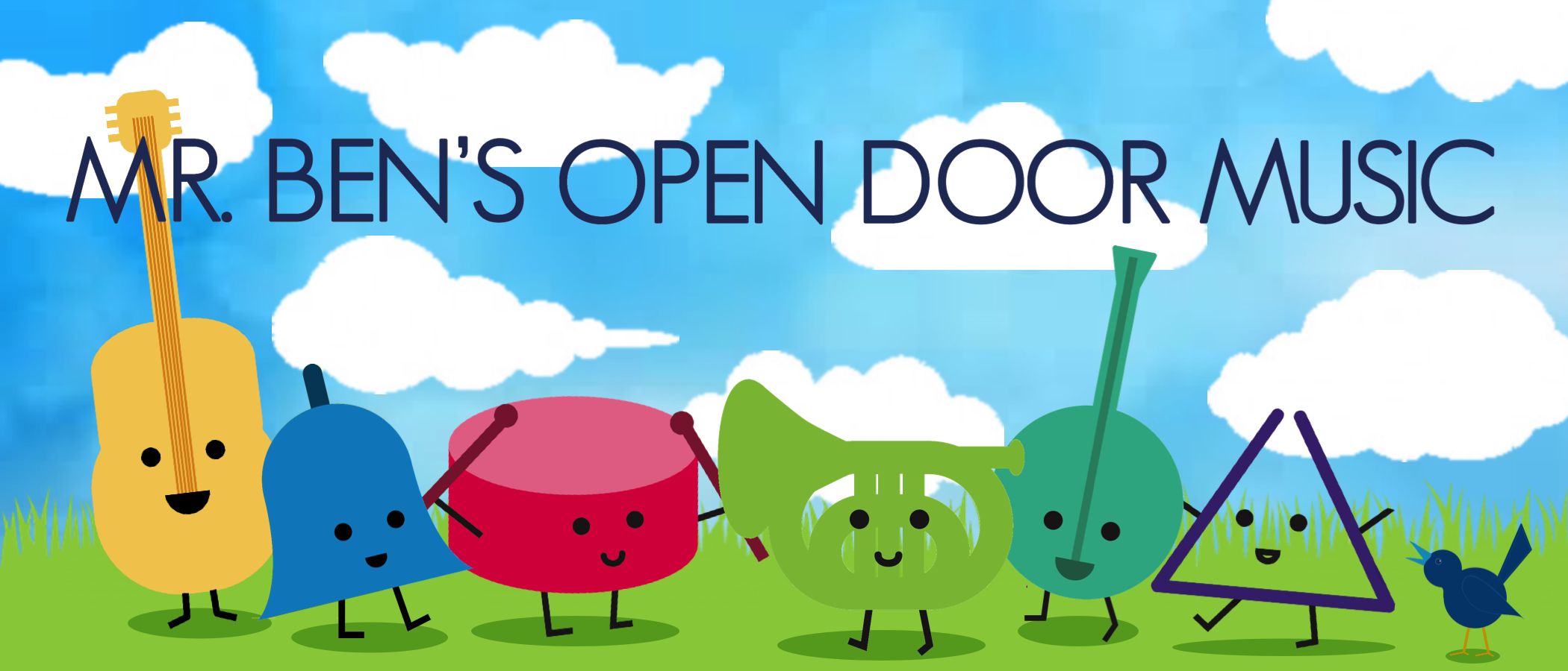 Mr. Ben's Open Door Music banner